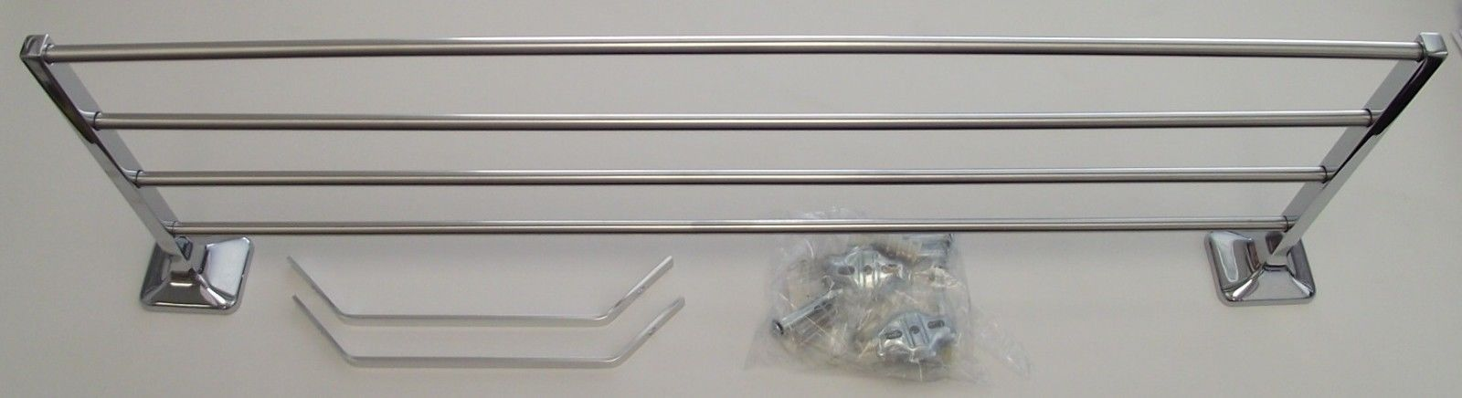 Primary image for Taymor Towel Shelf With Bar With Support Brackets Chrome 01-150024B