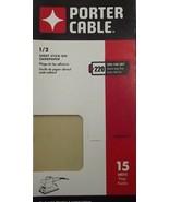 Porter Cable 764802215 1/2 Sheet PSA 220 Grit 15PK - $5.00