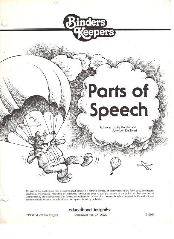 Parts Of Speech By Educational Insights