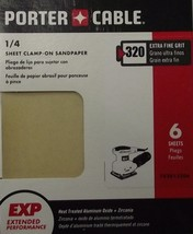 Porter Cable 782813206 PC 1/4 Sheet Clamp On 320 Grit 6PK Premium - $1.60