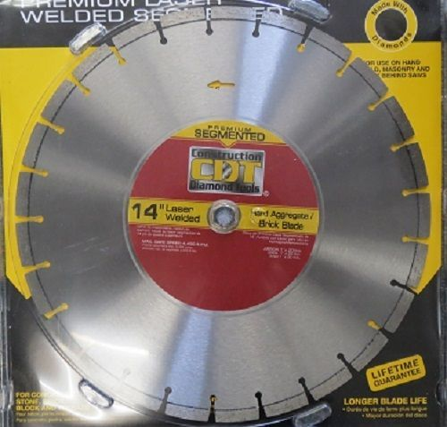 "Primary image for Construction Diamond 14"" Premium Segmented Diamond Saw Blade 91414020"