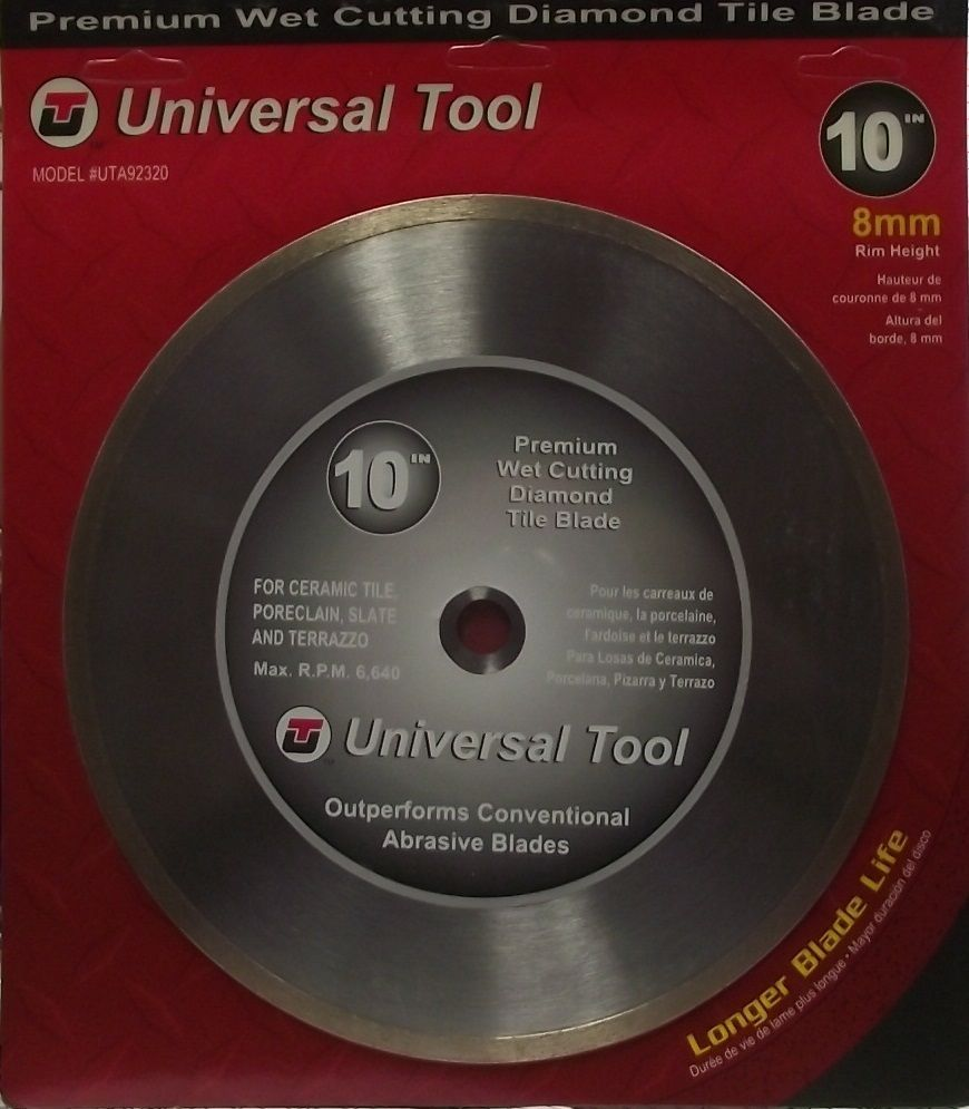 "Primary image for Universal Tool 10"" Premium Continuous Diamond Tile Saw Blade 92320"
