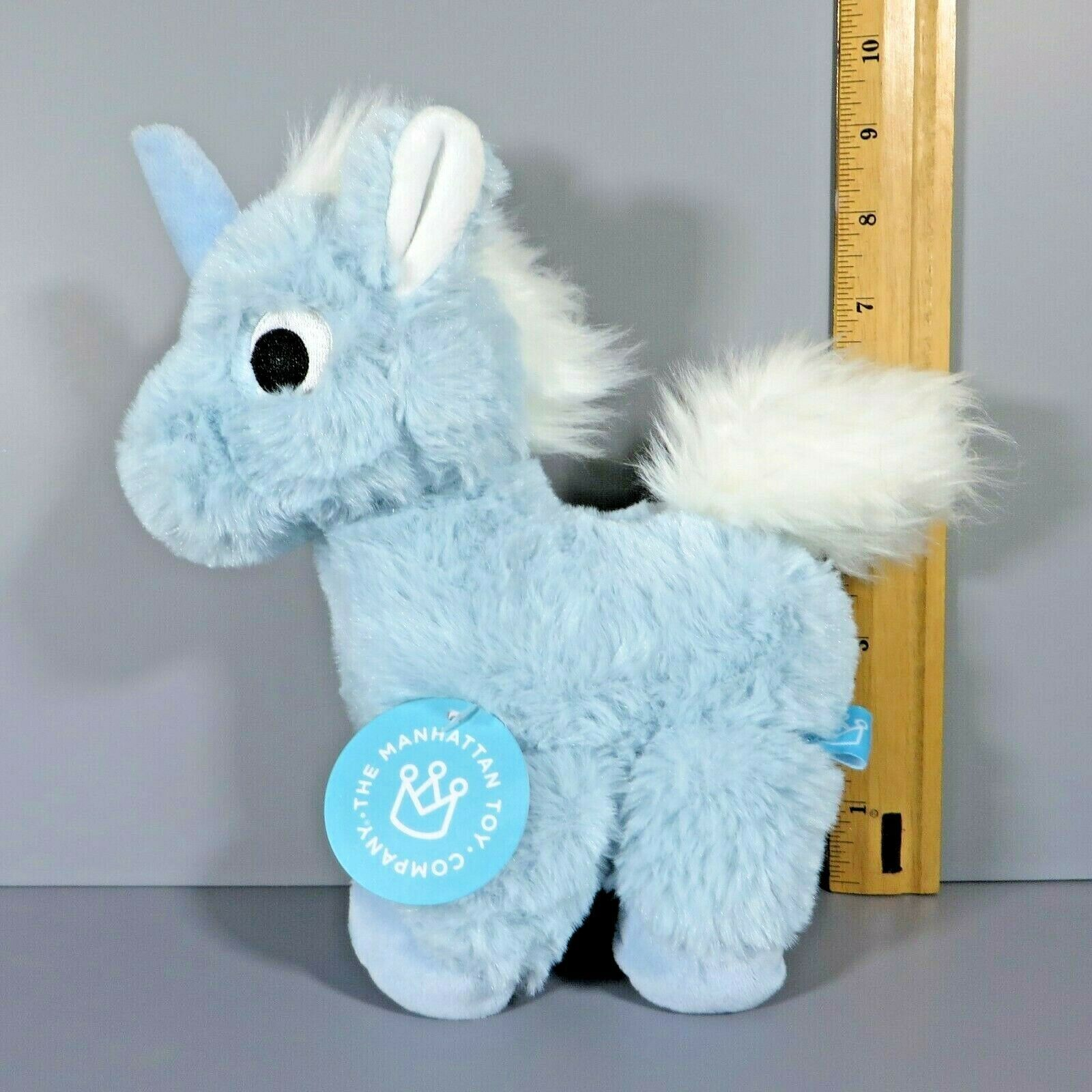 "Primary image for Manhattan Toy Company Floppies Light Blue Unicorn 9"" Plush Stuffed Animal w/ Tag"
