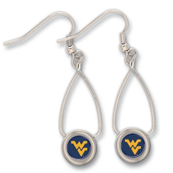Primary image for NCAA- West Virginia University Mountaineers WVU Logo French Loop Earrings