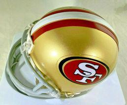 JERRY RICE / NFL H.O.F / AUTOGRAPHED SAN FRANCISCO 49ERS MINI HELMET / RICE HOLO image 3