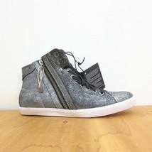 8.5 - Diesel Silver Black Beach Pit High Top Sneakers NEW w/ Box 0721DK - $75.00
