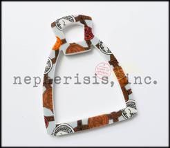 Auth Nib Hermes Petit H Stirrup Porcelain Pendant Or Bag Charm Multi Color - $400.00