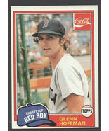 Boston Red Sox Glenn Hoffman 1981 Topps Coca Cola Coke Baseball Card 5 n... - $0.99