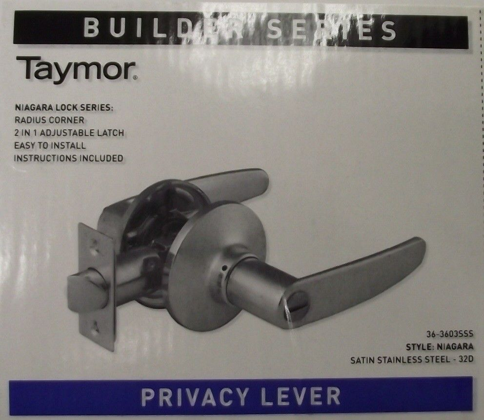 Primary image for Taymor 36-3603SSS Privacy Lever Door Handle Satin Stainless Steel Builder Series