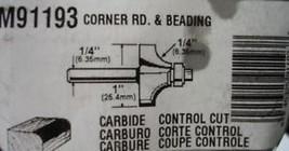 """Magna M91193 1/4"""" Corner Round Router Bit 1/4 Shank USA - $9.50"""