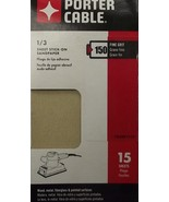 Porter Cable 763801515 1/3 Sheet PSA 150 Grit 15PK - $4.50