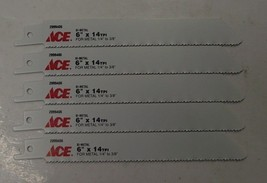 "ACE 2099406 6"" x 14TPI Bi-Metal Metal Cutting Recip Saw Blade 5pc Swiss 9609573 - $4.50"