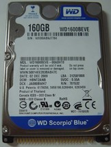 """NEW 160GB IDE 44PIN 2.5"""" 9.5MM Hard Drive WD WD1600BEVE Free USA Shipping"""
