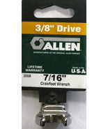 """Allen 20508 7/16"""" Crowfoot Non-Ratcheting Wrench 3/8"""" Drive USA - $2.50"""