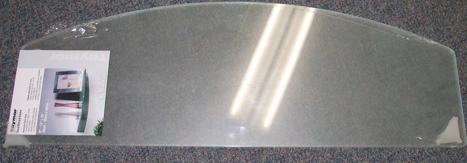 "Primary image for Taymor Decorative Glass Shelf 8"" x 12"" x 36"" 8mm Thick Tempered 52-C20908FG"