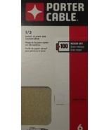 Porter Cable 783811006 1/3 Sheet Clamp On Sandpaper 100 Grit 6PK - $1.60