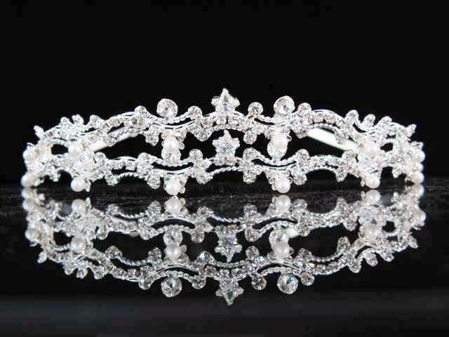 Primary image for WEDDING WOMAN HAIR ACCESSORIES;FILIGREE SPARKLE BRIDAL TIARA ;BRIDE REGAL 6424