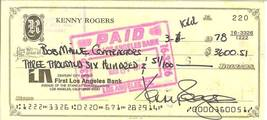 kenny rogers signed check autograph the gambler singer actor hollywood - $149.99