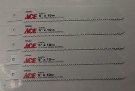 "ACE 2099463 6"" x 10TPI Bi-Metal Recip Saw Blade 5pc Swiss 2608656172 - $4.50"