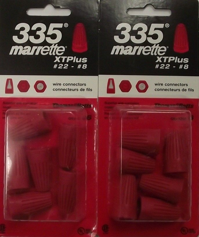 Primary image for Thomas & Betts XTPlus Red Wire Connectors 335 12pcs. 2-Packs Canada #22-8AWG