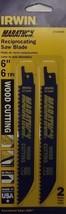 """Irwin 372606P2 6"""" x 6TPI Bi-Metal Wood Reciprocating Cutting Blades 2pk USA - $2.25"""