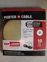 Porter-Cable 735012210 5-Inch Hook and Loop Exp No Hole 220G Disc (10-Pack) - $3.50