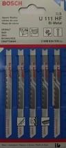 Bosch U111HF U-Shank Jigsaw Blades 10 TPI Bi-Metal Swiss 5 Blades - $3.25