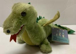"Vintage 1980 Dakin Green Dragon Dinosaur Dragonwick 12"" Stuffed Animal P... - $32.99"
