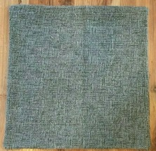 Classic Concepts Luxury Woven Pillow Cover 22x22 Blue/Green NWOT  #40 - $39.99