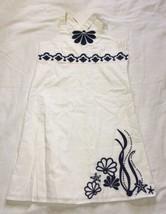 New Girls Gymboree Spring Dress White Navy Blue Size 8 - $9.18
