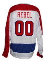 Custom Name # New York Americans Retro Hockey Jersey New White Any Size image 2