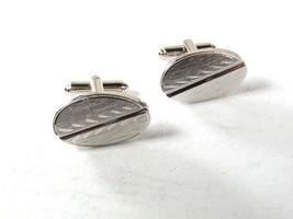 Vintage Silver Tone Cufflinks By SHIELDS 81316 - $14.99
