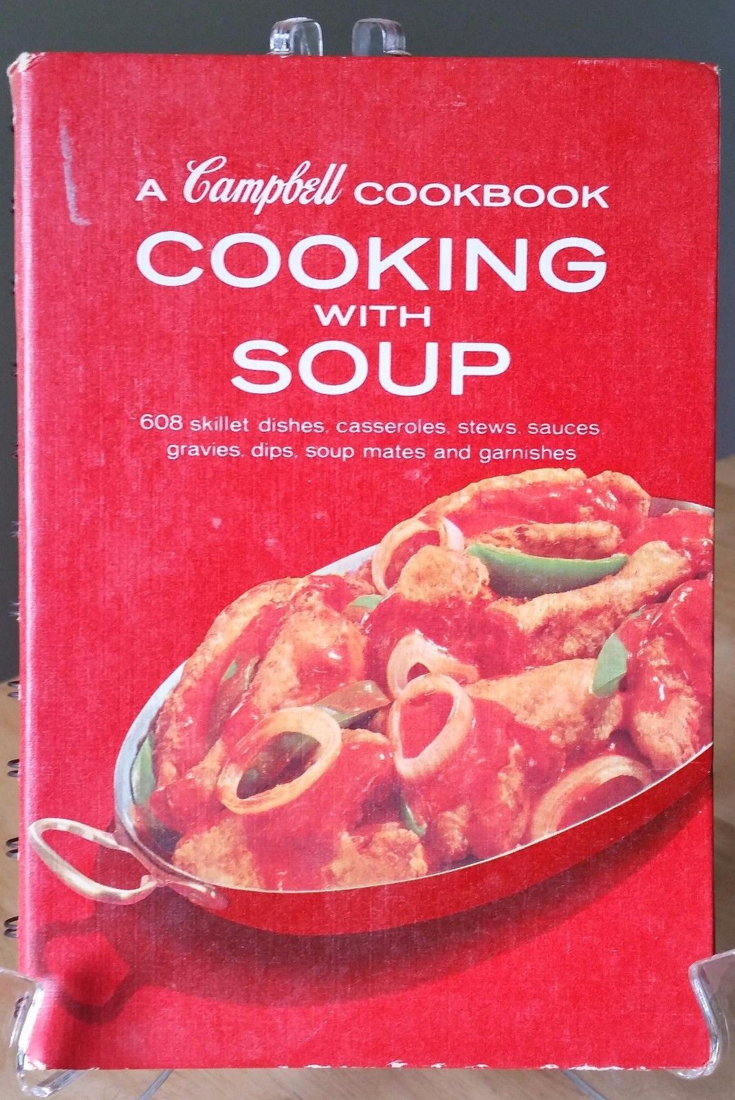 Primary image for A Campbell Cookbook Cooking With Soup 608 Dishes Recipes Spiral Bound Red 6491