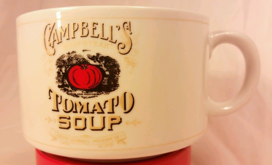 Primary image for Vintage Campbell's Condensed Tomato Soup Mug Historical Labels By Westwood 1994