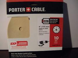 """Porter Cable 736613210 6"""" H&L 320 6 Hole Sandpaper - $4.00"""