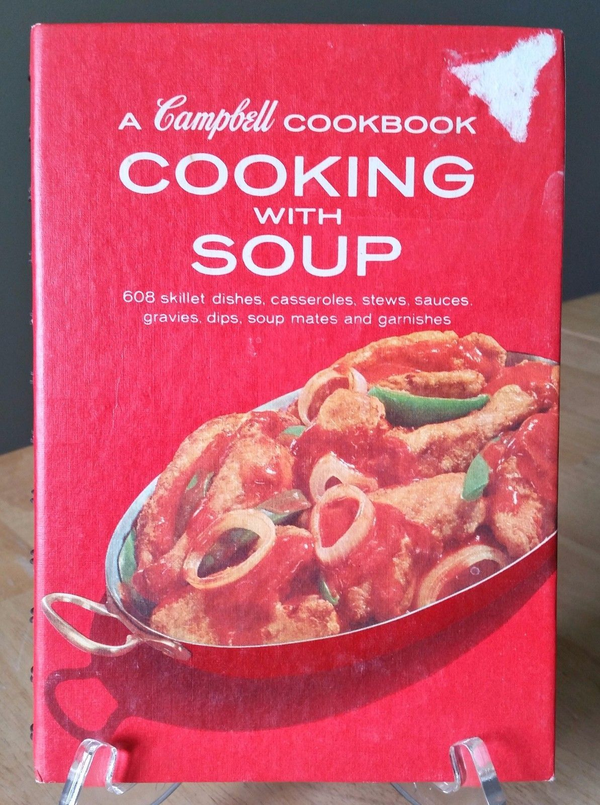 Primary image for A Campbell Cookbook Cooking With Soup 608 Dishes Recipes Spiral Bound Red 1972
