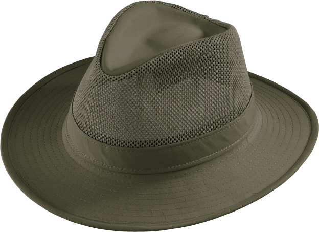 Henschel Hiker Aussie Mesh Breezer Low Crown UPF 50+ Made In USA Khaki Olive