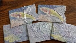 SET OF 5 FISH DESIGN GIFT CARD HOLDERS WATERPROOF REUSABLE - $14.99