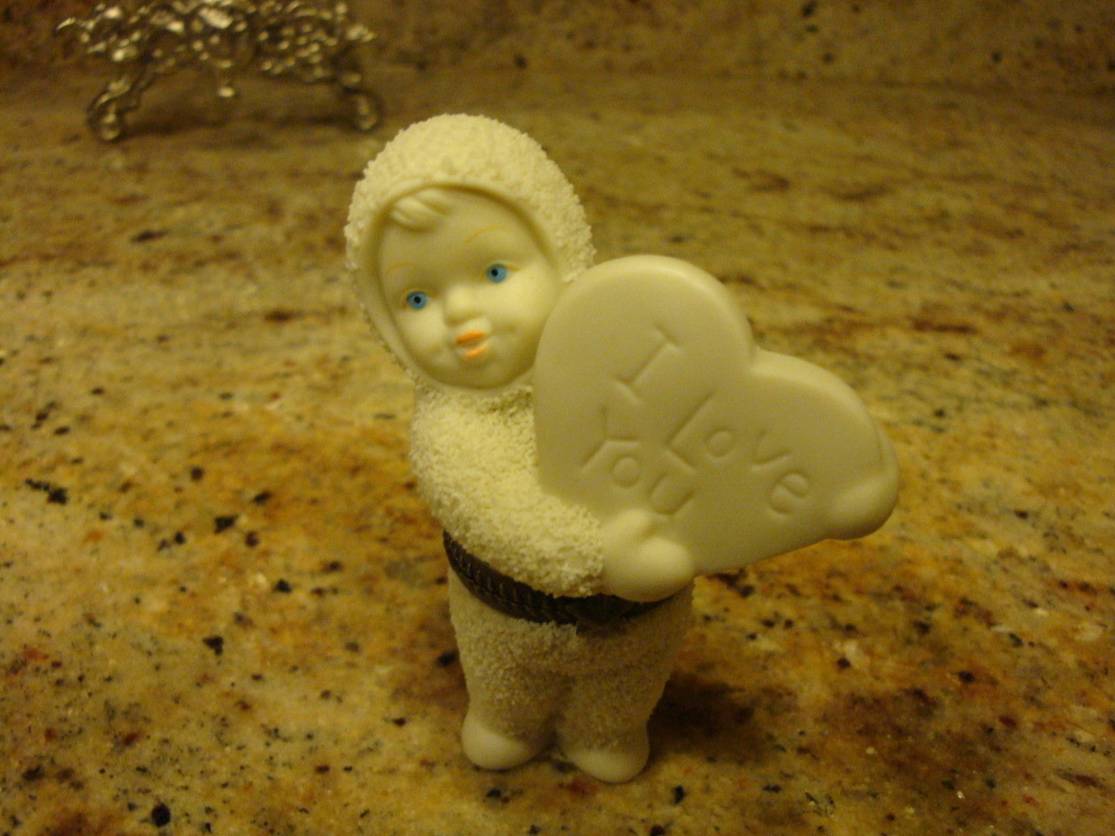 Primary image for Dept 56 Snowbabies Sweet Heart Trinket Hinged Box I Love You Heart #68930