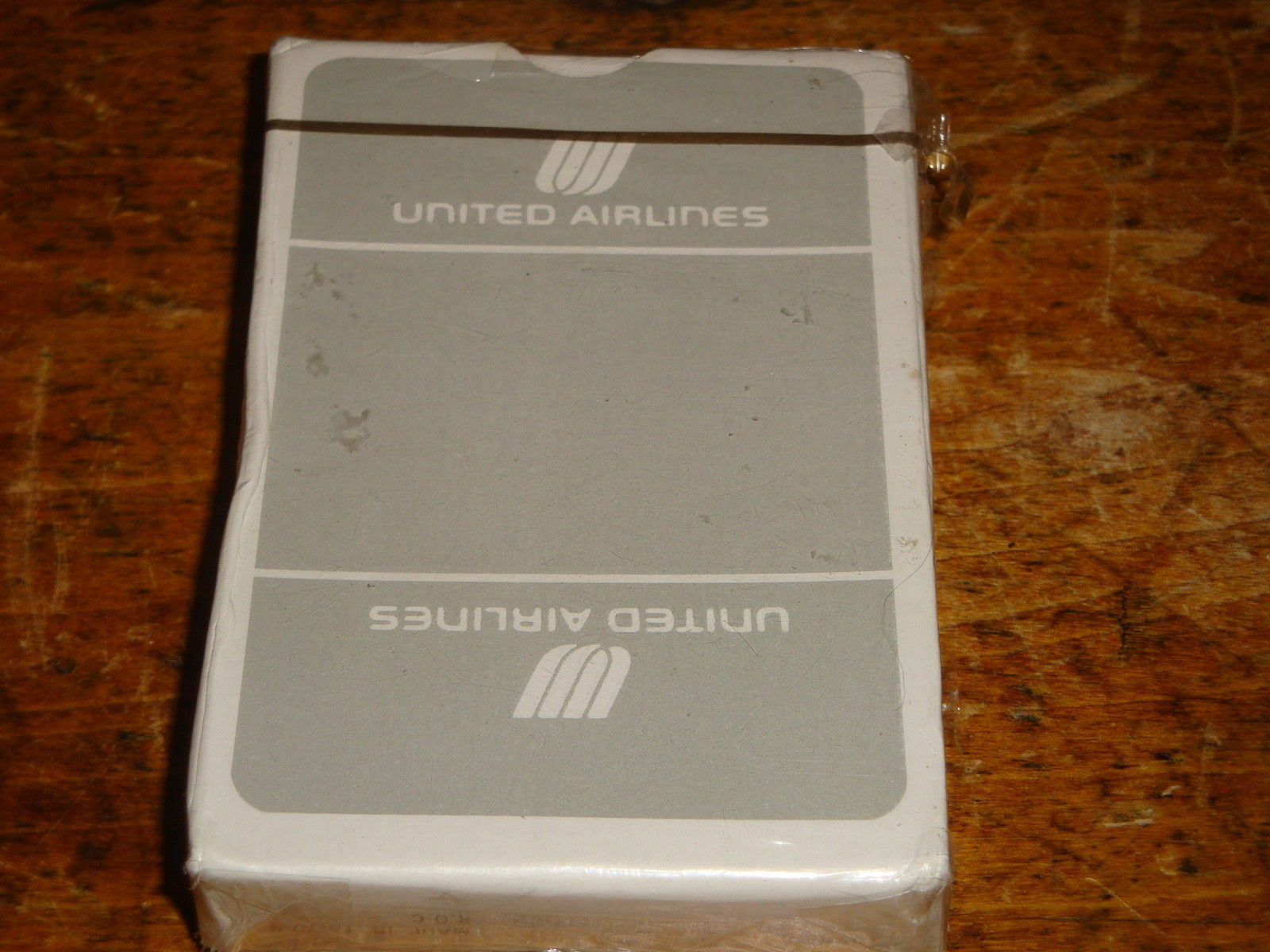 Primary image for Vintage United Airlines Playing Cards Gray & White Deck Sealed