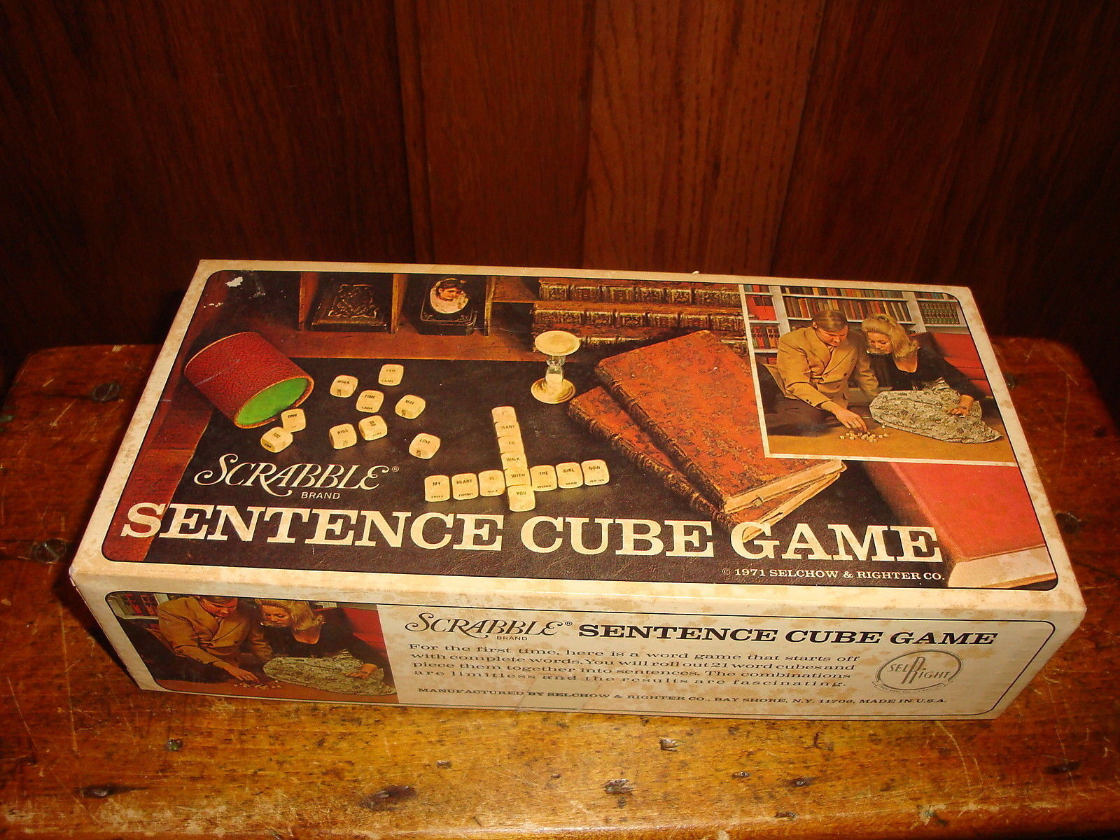 Primary image for Scrabble Sentence Cube Game 1971 Selchow & Righter Co Vintage Complete