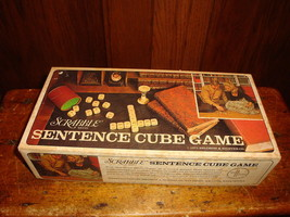 Scrabble Sentence Cube Game 1971 Selchow & Righter Co Vintage Complete - $14.01