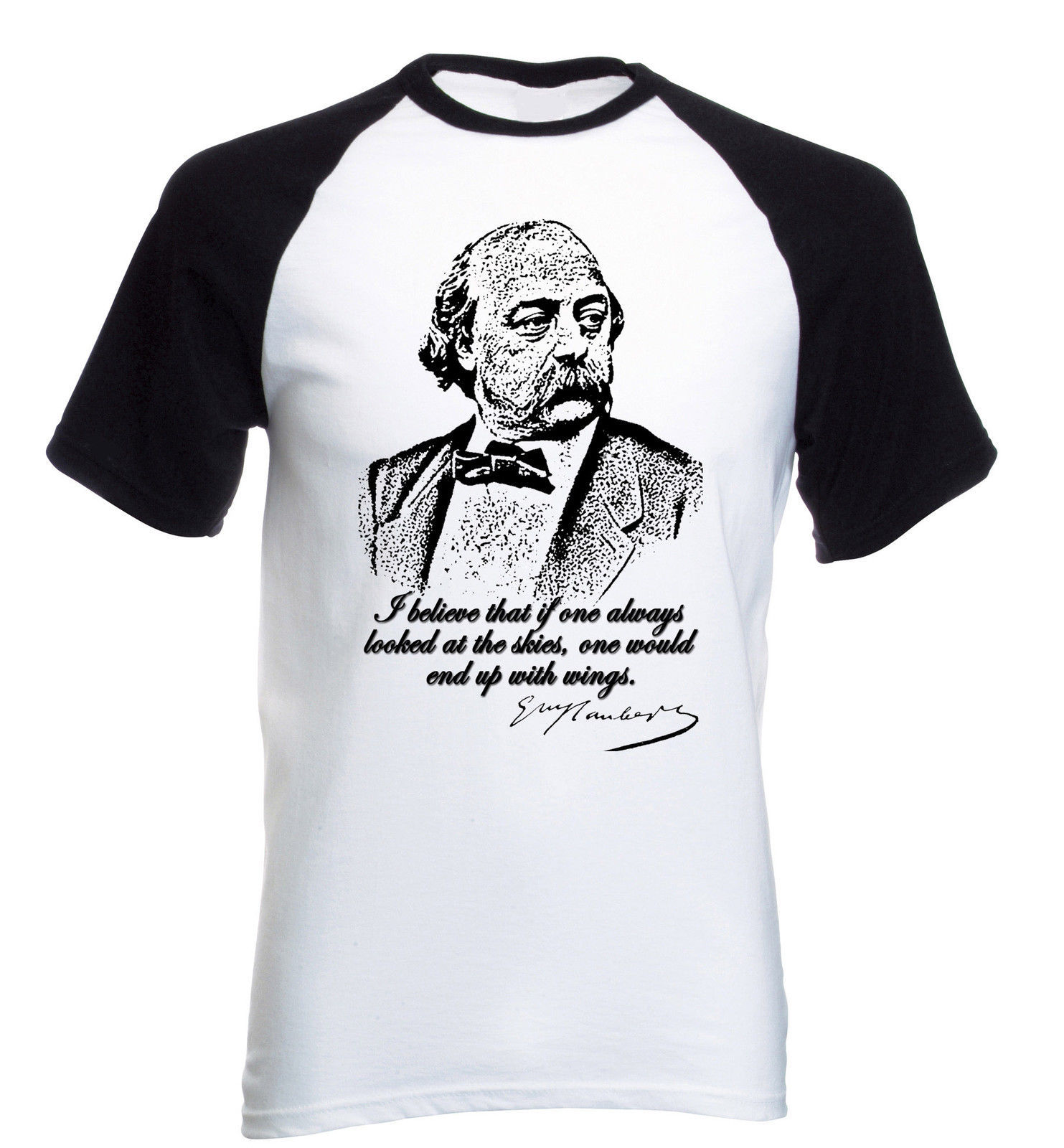 Primary image for GUSTAVE FLAUBERT - COTTON BASEBALL T-SHIRT ALL SIZES IN STOCK