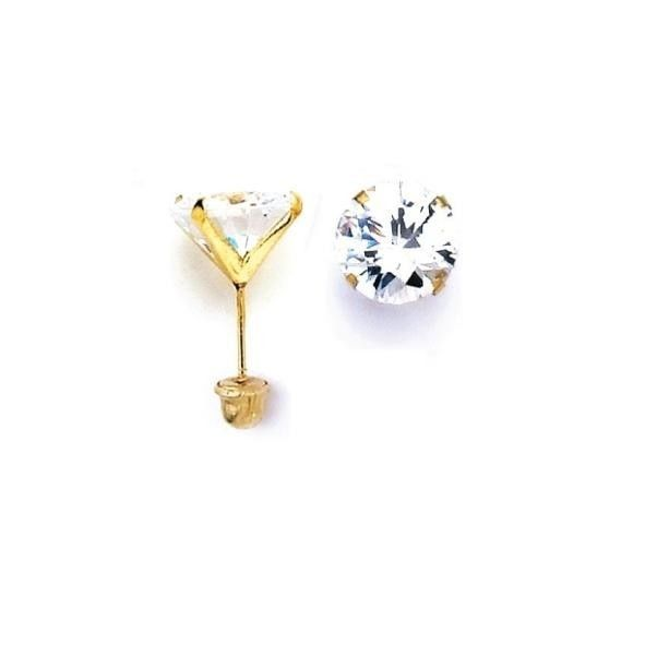 Primary image for 14K Gold Stud Screw Back Birthstone Earrings 3mm all ages 2 for $40.00   ON SALE