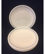 Set of 8 vintage corelle snowflake garland dinner plates thumbtall