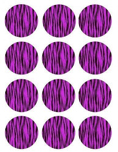Single Source Party Supply - Zebra Cupcake - Purple Edible ...