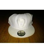 New Era 59fifty MLB Milwaukee Brewers Mitt Retro Logo White Fitted Cap H... - $1.99