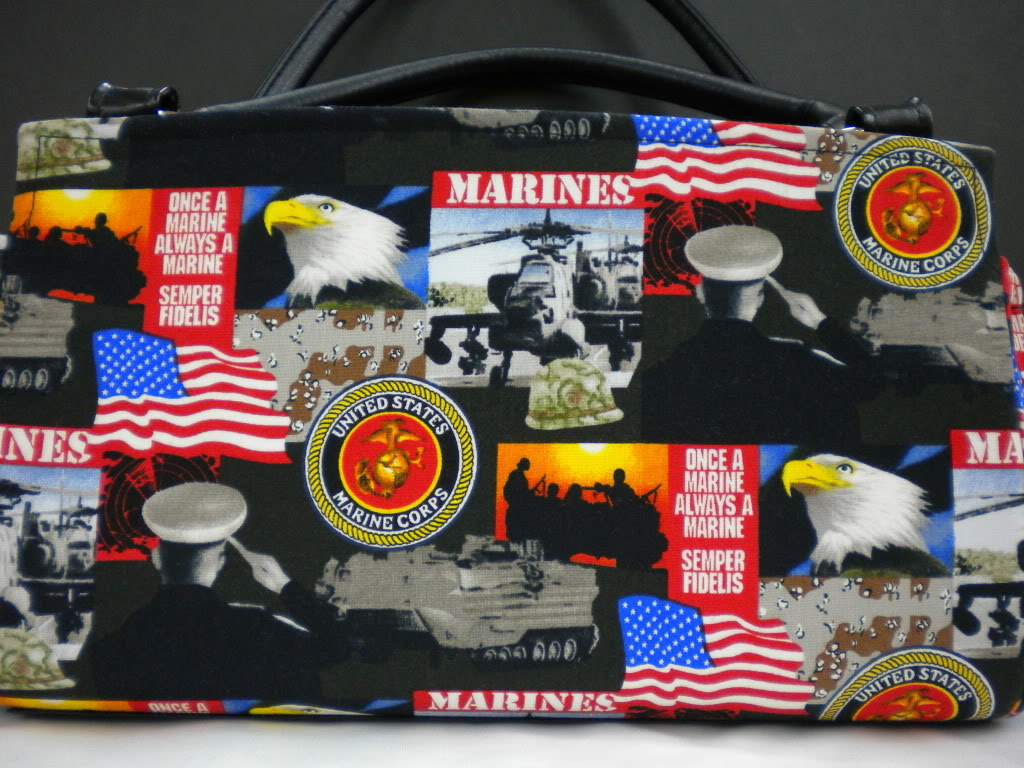 USA Marine Corps Magnetic Shell Slipcover Cover Classic Base Bag Shelly Purse