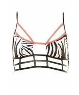 One Teaspoon Haut de Bikini Femme Zebra Superman Bodice Wht / Blk XS PVC... - $24.06