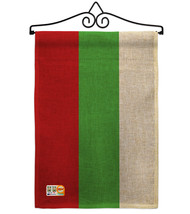 Bulgaria Burlap - Impressions Decorative Metal Wall Hanger Garden Flag S... - $33.97